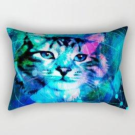 Kitty Cat Laser Lights at the Aleurorave Rectangular Pillow