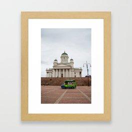 Helsinki Cathedral & Ice Cream Framed Art Print