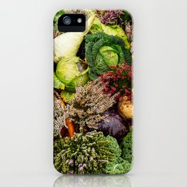 Vegetable pattern iPhone Case