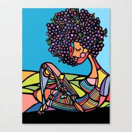Afro Canvas Print