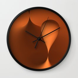 the color orange Wall Clock