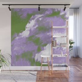 Genderqueer Pride Textured Abstract Paint Wave Wall Mural