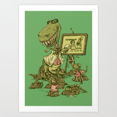 Let's study the Humanosaurs Art Print