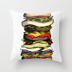 Now THIS is a burger. Throw Pillow