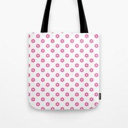 Pink polka dots - flower Case Tote Bag