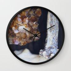 Citrine and Bone Wall Clock