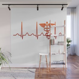 Nurse Practitioner Heartbeat Wall Mural
