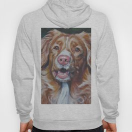 Nova Scotia Duck Tolling Retriever dog portrait from an original painting by L.A.Shepard Hoody