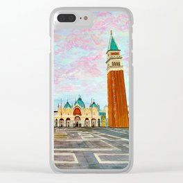 St. Mark's Square Venice Clear iPhone Case