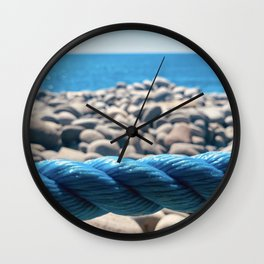 Ropes and Pebbles Wall Clock