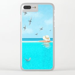 Endless Blue Sky and Blue Water, Summer Bliss Clear iPhone Case