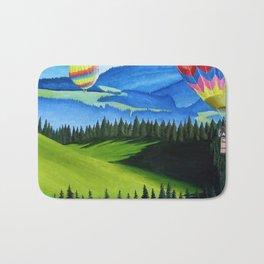 Acrylic Hot Air Balloons Bath Mat