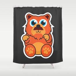 Fire Bear Shower Curtain