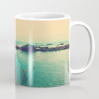 boat Mugs featuring Boat by AJAN