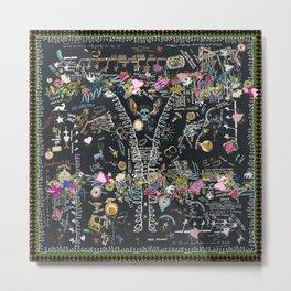 Black tree of life garden Metal Print