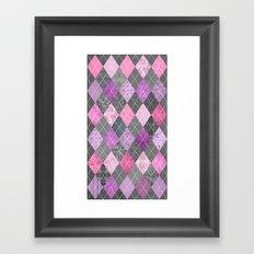 Magic Argyle Quilt Framed Art Print