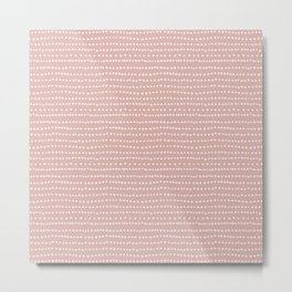 Cherry Blossom Stripe Metal Print