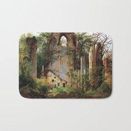 Caspar David Friedrich Monastery Ruins Eldena Bath Mat