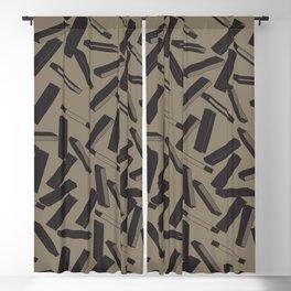 3D X Pattern Blackout Curtain