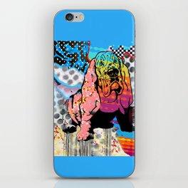 Basset pop art iPhone Skin