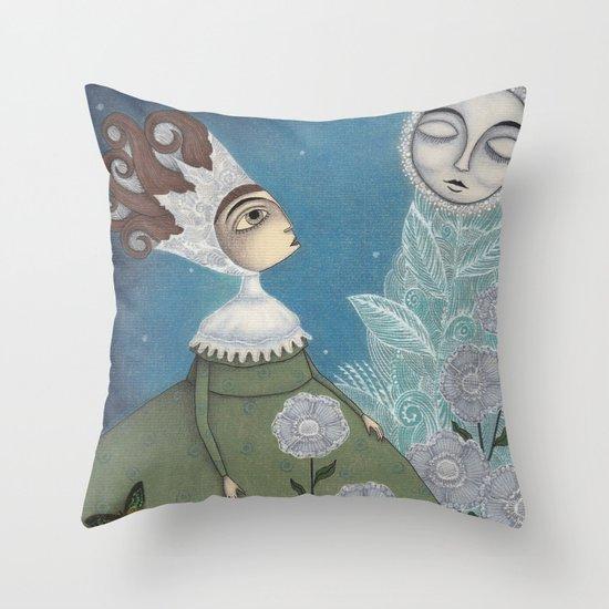 Soon, soon, Winter Moon! Throw Pillow