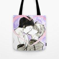 haikyuu Tote Bags featuring Daisuga Haikyuu!! by Pruoviare