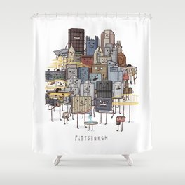 Pittsburgh Skyline group picture- art print Shower Curtain
