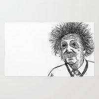 einstein Area & Throw Rugs featuring Einstein by AlphaVariable