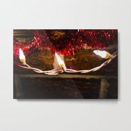 Lights and Garland Metal Print