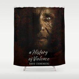 A History of Violence, David Cronenberg movie poster, Viggo Mortensen, Ed Harris Shower Curtain