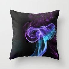 colored smoke Throw Pillow