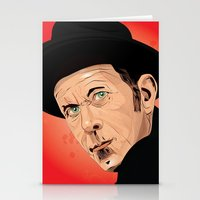 tom waits Stationery Cards featuring Tom Waits by Brian Madden