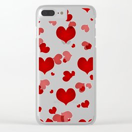 Heart Pattern 08 Clear iPhone Case