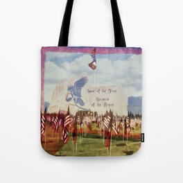 Land Of The Free Because Of The Brave Tote Bag