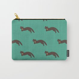 Run free Mr Pine Marten turquoise Carry-All Pouch