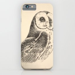 Vintage Print - Companion to Gould's Birds of Australia (1877) - Chestnut-Faced Owl iPhone Case