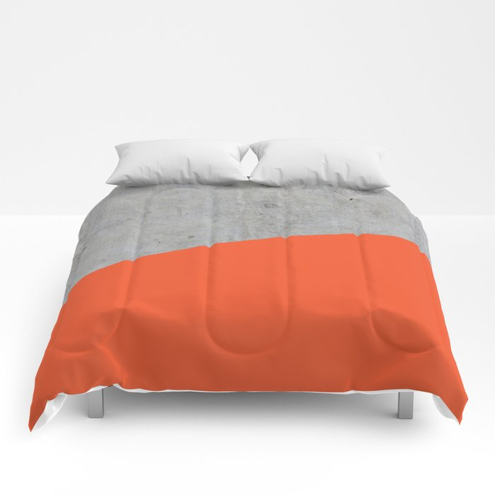 Concrete and Flame Color Comforters