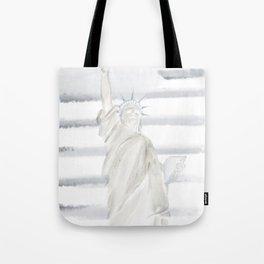Lady Liberty • Americana Sepia Tote Bag