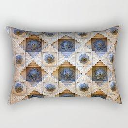 Wood Door Texture Rectangular Pillow