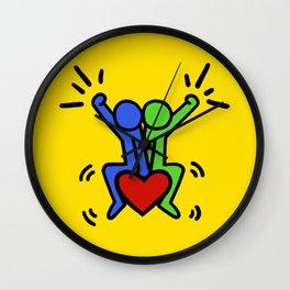Yes (Keith Haring) Wall Clock