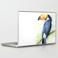 toucan Laptop & iPad Skins featuring Toucan by Olechka