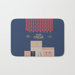 Mon Oncle - Jacques Tati Movie Poster, classic French movie, old film, Cinéma français, fun, humor Bath Mat