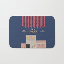Mon Oncle - Jacques Tati Movie Poster, classic French movie, old film, Cinéma français, fun, humor Bath Mat