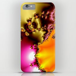 glowing frogs in pool iPhone Case