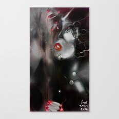 Red Illustration Art Canvas Print