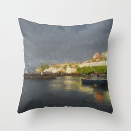Goodnight Brixham Throw Pillow