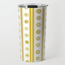 Yellow flowers align Travel Mug