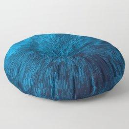 Bold Burst in Blue Floor Pillow