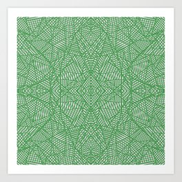 Ab Lace Green Art Print