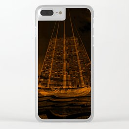 The Flying Dutchman / Legend, sepia Clear iPhone Case